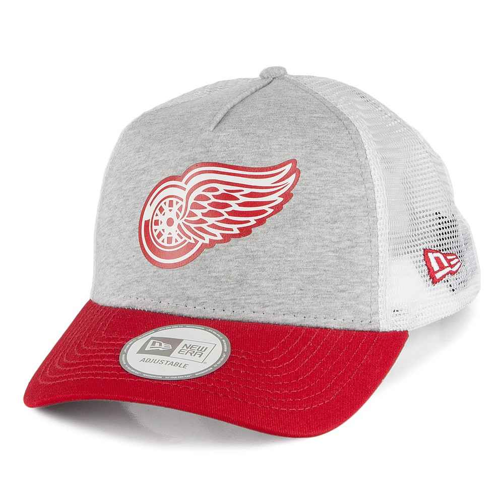 Kšiltovka Detroit Red Wings NEW ERA Trucker Jersey Mesh