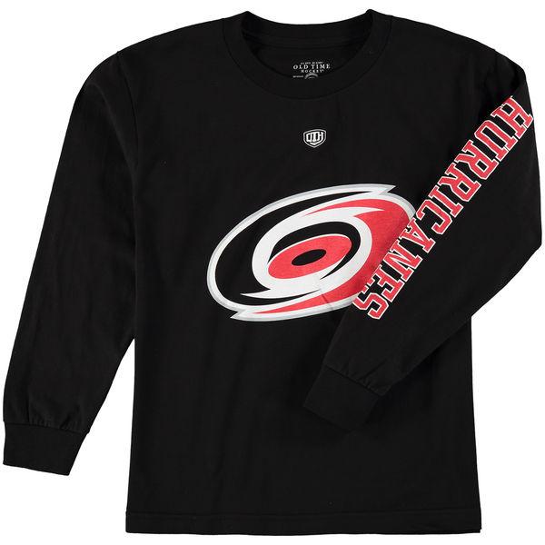 Dětské tričko Carolina Hurricanes Old Time Hockey Two Hit Long Sleeve Velikost: Dětské S (6 - 8 let)