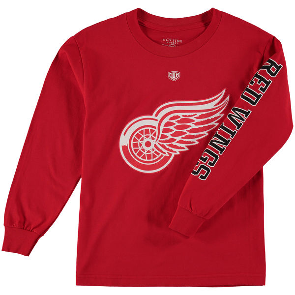 Dětské tričko Detroit Red Wings Old Time Hockey Two Hit Long Sleeve Velikost: Dětské S (6 - 8 let)