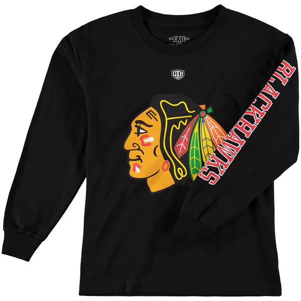 Dětské tričko Chicago Blackhawks Old Time Hockey Two Hit Long Sleeve Velikost: Dětské S (6 - 8 let)