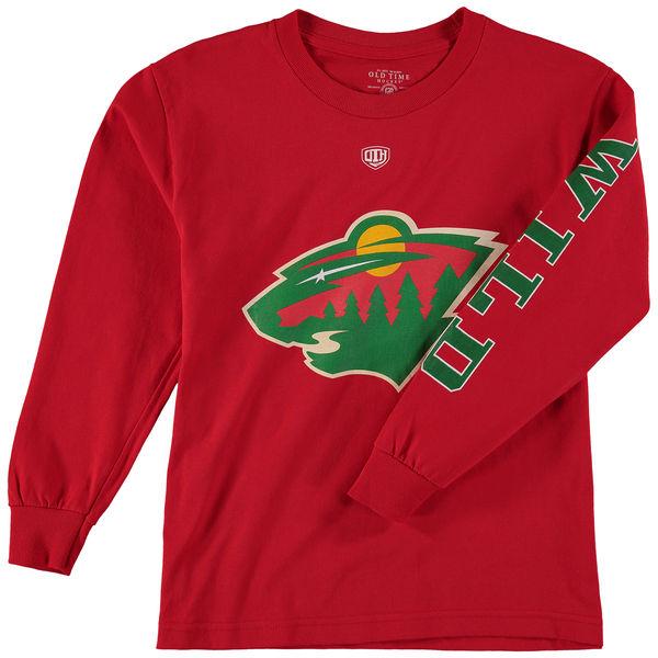 Dětské tričko Minnesota Wild Old Time Hockey Two Hit Long Sleeve Velikost: Dětské S (6 - 8 let)