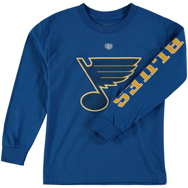 Dětské tričko St. Louis Blues Old Time Hockey Two Hit Long Sleeve Velikost: Dětské S (6 - 8 let)