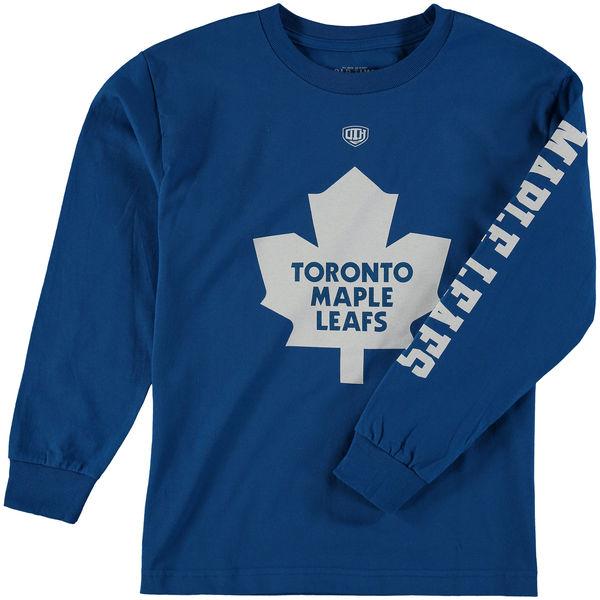 Dětské tričko Toronto Maple Leafs Old Time Hockey Two Hit Long Sleeve Velikost: Dětské S (6 - 8 let)