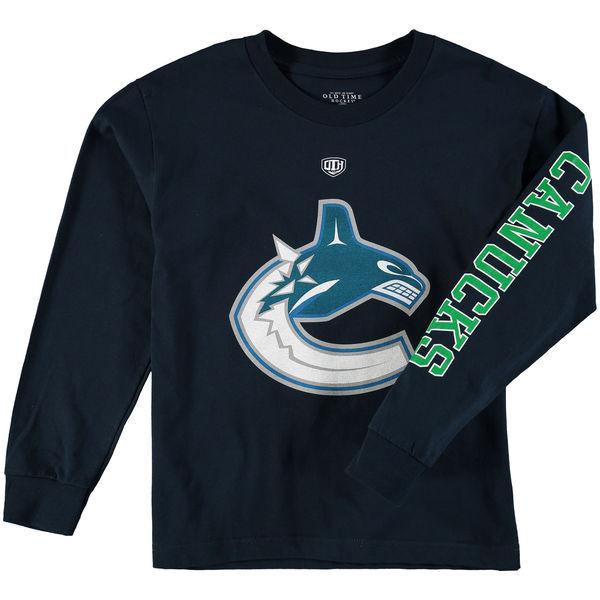Dětské tričko Vancouver Canucks Old Time Hockey Two Hit Long Sleeve Velikost: Dětské S (6 - 8 let)