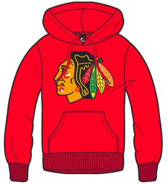 Dětská mikina Chicago Blackhawks Majestic Ning Hoody Velikost: 6-7 let