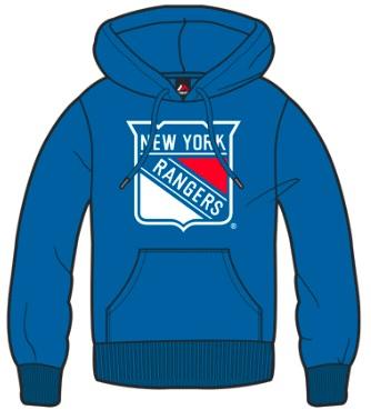 Dětská mikina New York Rangers Majestic Ning Hoody Velikost: 6-7 let