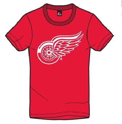 Dětské Tričko Detroit Red Wings Majestic Rotal Logo Tee Velikost: 6 - 7 let