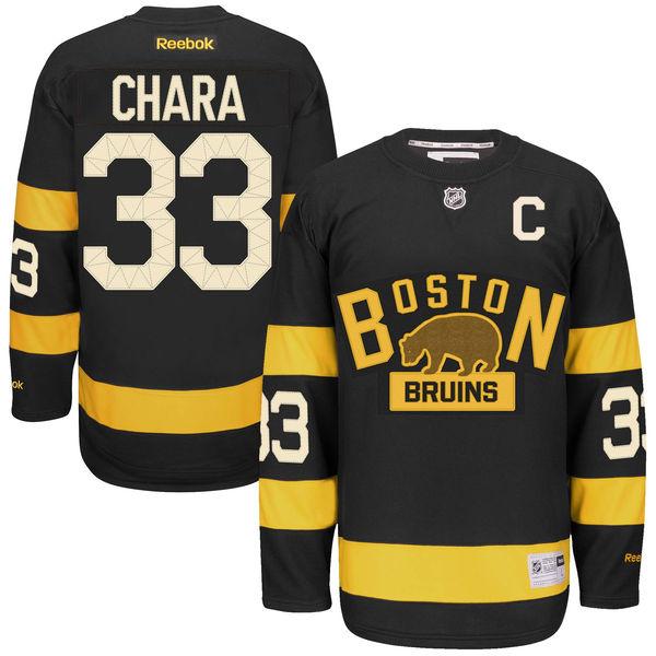 Reebok Dres Zdeno Chára #33 Boston Bruins Premier Jersey 2016 NHL Winter Classic Velikost: S
