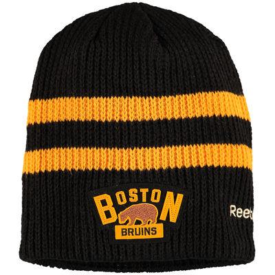 Reebok Zimní Čepice Boston Bruins Winter classic Beanie - Černá