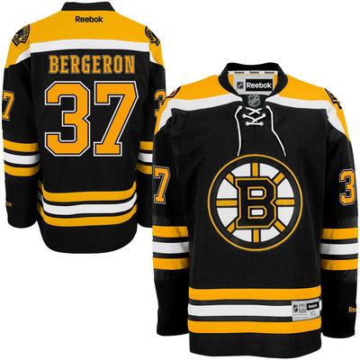 Reebok Dres Patrice Bergeron #37 Boston Bruins Premier Jersey Home Velikost: S