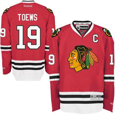 Reebok Dres Jonathan Toews #19 Chicago Blackhawks Premier Jersey Home Velikost: M