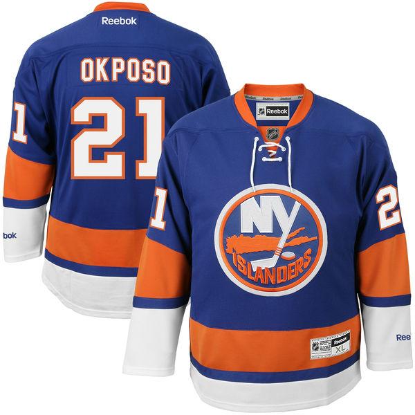 Reebok Dres Kyle Okposo #21 New York Islanders Premier Jersey Home Velikost: S