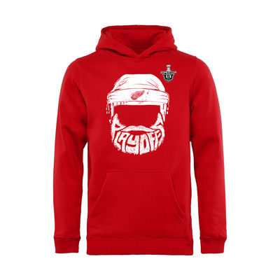 Dětská Mikina Detroit Red Wings 2016 Stanley Cup Playoffs Bearded Velikost: Teenager XL (16 - 18 let)