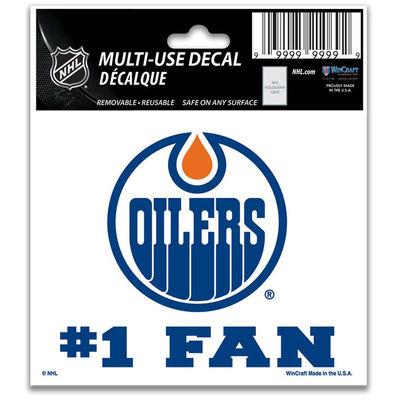 Samolepka Edmonton Oilers #1 Fan