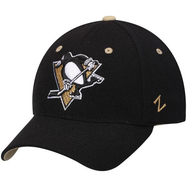 Kšiltovka Pittsburgh Penguins Zephyr Breakaway Flex černá Velikost: S