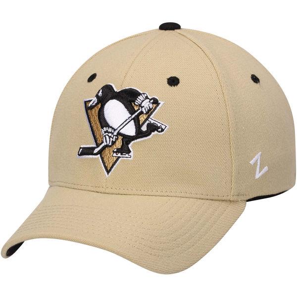 Kšiltovka Pittsburgh Penguins Zephyr Breakaway Flex béžová Velikost: XL