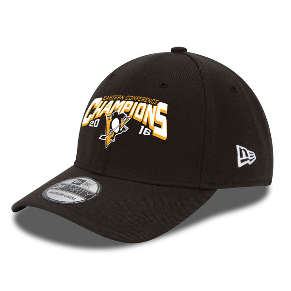 New Era Kšiltovka Pittsburgh Penguins 2016 Eastern Conference Champions 39THIRTY Velikost: L/XL