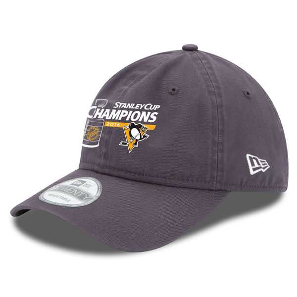 Kšiltovka Pittsburgh Penguins 2016 Stanley Cup Champions 9TWENTY Charcoal