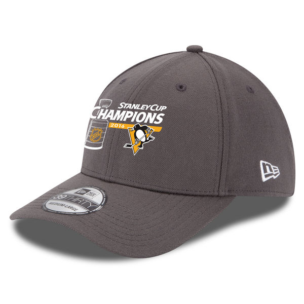 Kšiltovka Pittsburgh Penguins 2016 Stanley Cup Champions 39THIRTY Charcoal Velikost: M/L