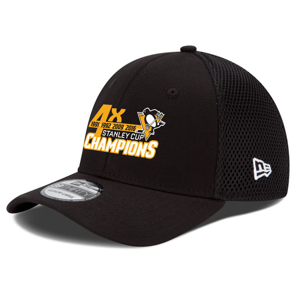 Kšiltovka Pittsburgh Penguins 2016 Stanley Cup Champions 4-Time 39THIRTY Flex Velikost: M/L