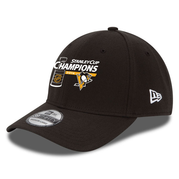 Kšiltovka Pittsburgh Penguins 2016 Stanley Cup Champions 39THIRTY Flex Black Velikost: S/M
