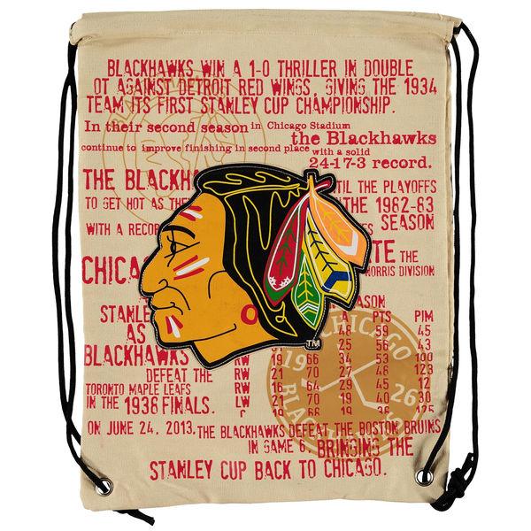 Forever Collectibles NHL vak Chicago Blackhawks Historic Canvas Drawstring