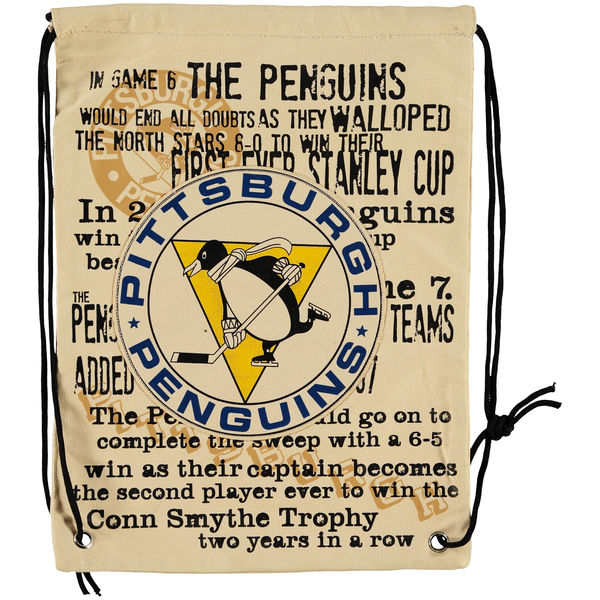 Forever Collectibles NHL vak Pittsburgh Penguins Historic Canvas Drawstring