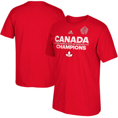 Adidas Tričko Team Canada 2016 World Cup of Hockey Champions Authentic Velikost: S