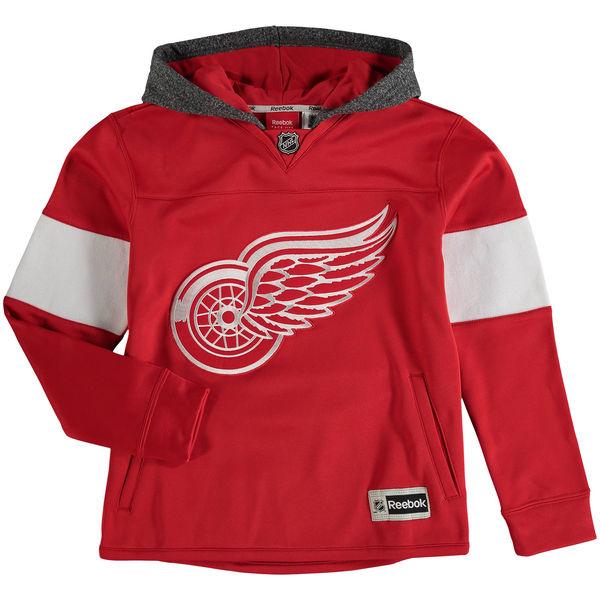 Reebok Dětská mikina Detroit Red Wings Faceoff Jersey Hoodie Velikost: Dětské M (9 - 11 let), Distribuce: USA