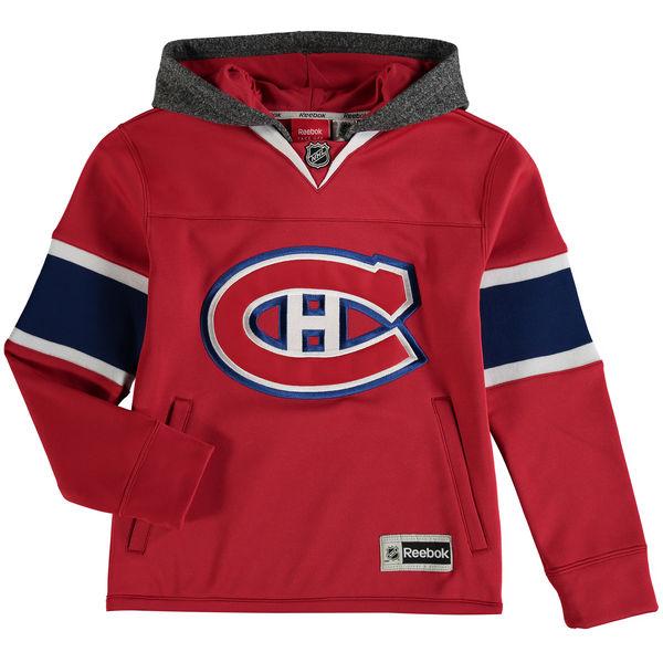 Reebok Dětská mikina Montreal Canadiens Faceoff Jersey Hoodie Velikost: Dětské L (11 - 12 let)