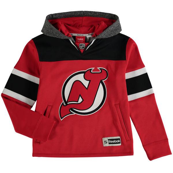 Reebok Dětská mikina New Jersey Devils Faceoff Jersey Hoodie Velikost: Dětské M (9 - 11 let), Distribuce: USA