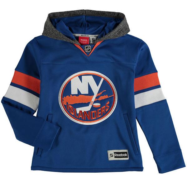 Reebok Dětská mikina New York Islanders Faceoff Jersey Hoodie Velikost: Dětské M (9 - 11 let), Distribuce: USA