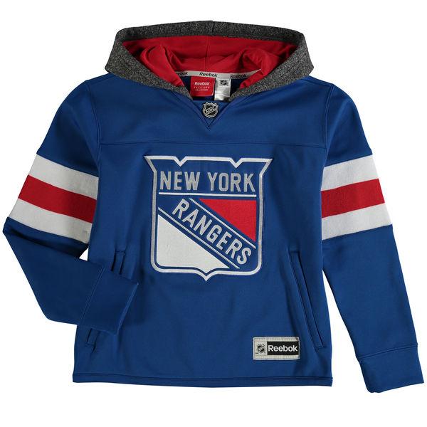 Reebok Dětská mikina New York Rangers Faceoff Jersey Hoodie Velikost: Dětské M (9 - 11 let), Distribuce: USA