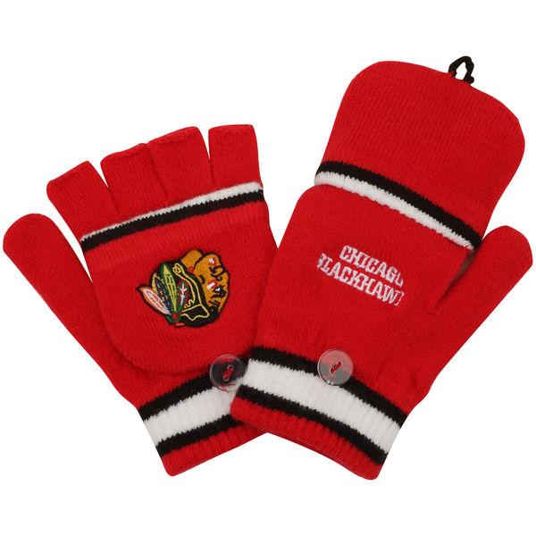 Reebok Dětské rukavice Chicago Blackhawks Convertible Mittens Distribuce: USA