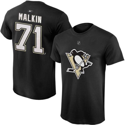 Reebok Dětské tričko Evgeni Malkin Pittsburgh Penguins NHL Name & Number Velikost: Dětské L (11 - 12 let)