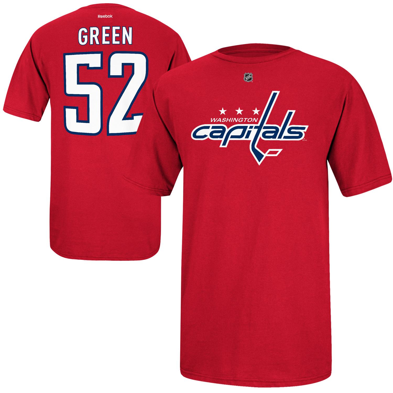 Reebok Dětské tričko Mike Green Washington Capitals NHL Name & Number Velikost: Dětské L (11 - 12 let)