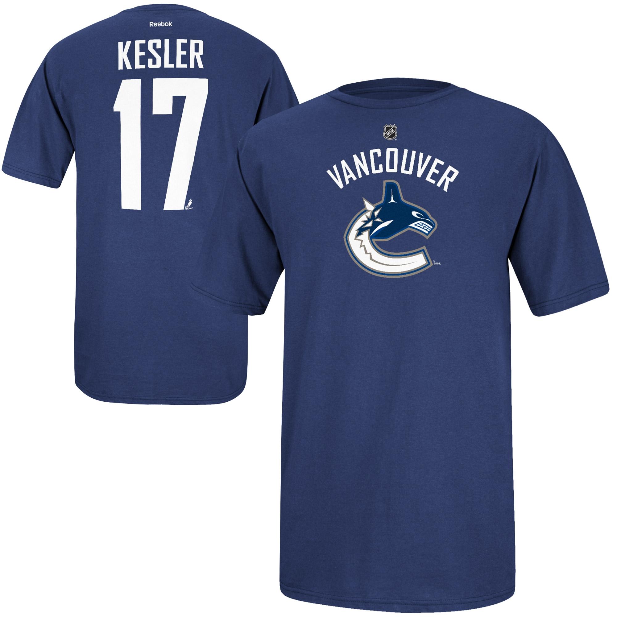Reebok Dětské tričko Ryan Kesler Vancouver Canucks NHL Name & Number Velikost: Dětské L (11 - 12 let)