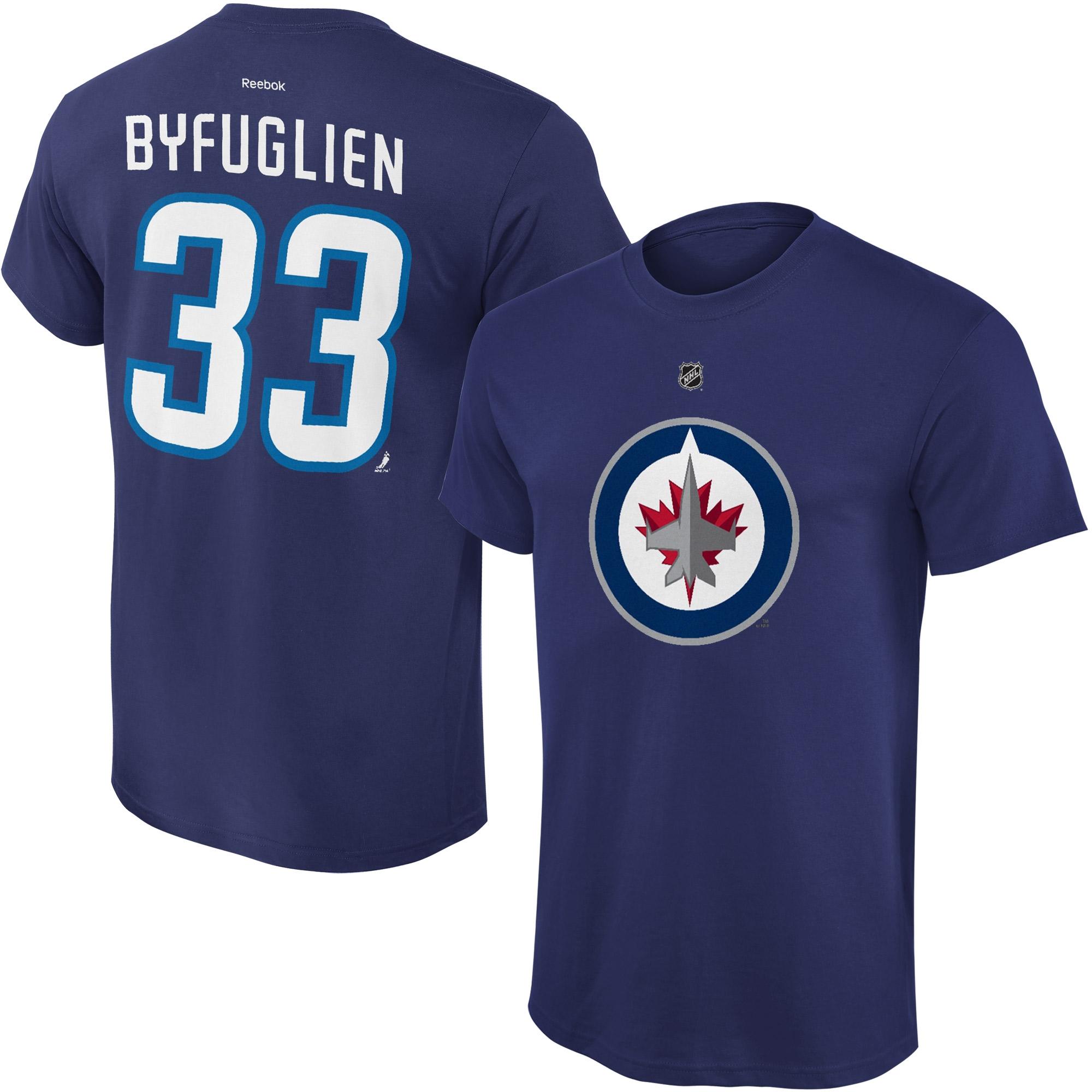 Reebok Dětské tričko Dustin Byfuglien Winnipeg Jets NHL Name & Number Velikost: Dětské S (6 - 8 let)