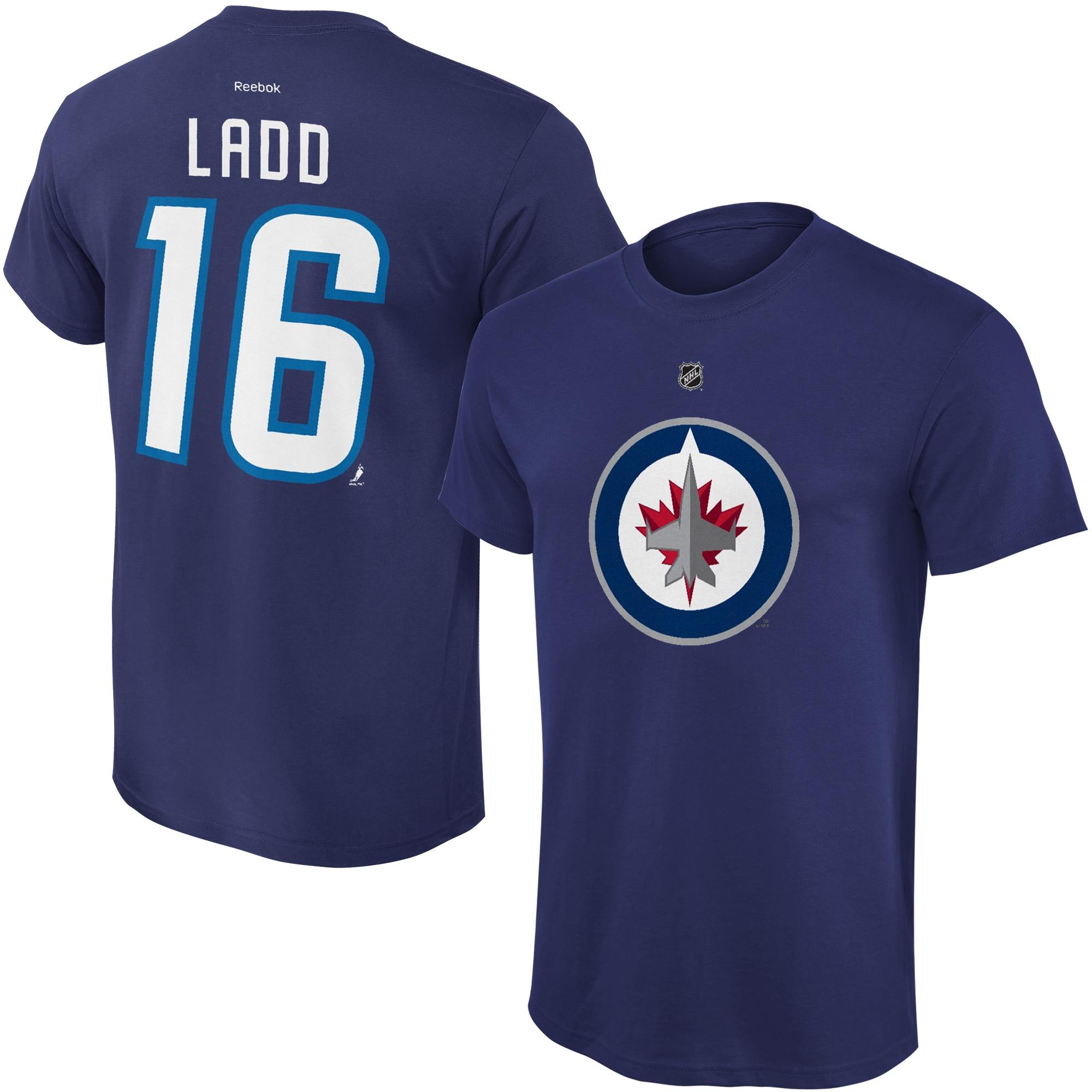 Reebok Dětské tričko Andrew Ladd Winnipeg Jets NHL Name & Number Velikost: Dětské S (6 - 8 let)