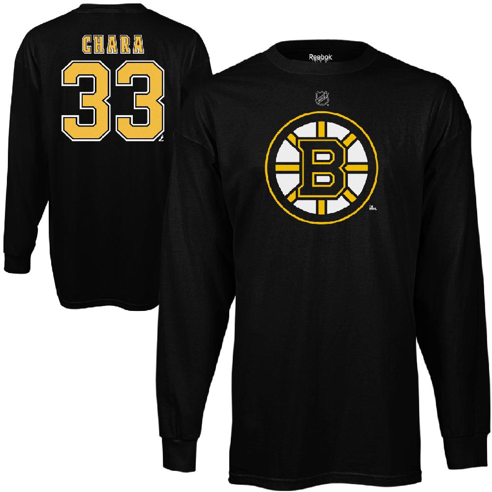 Reebok Dětské tričko Zdeno Chára Boston Bruins NHL Name & Number Velikost: Dětské S (6 - 8 let)