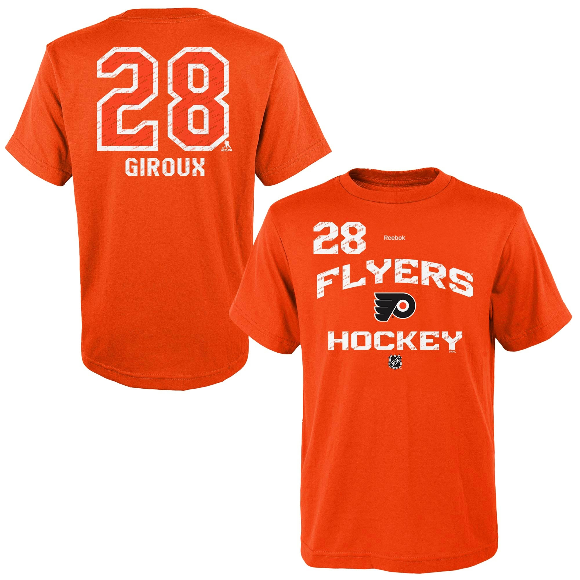 Reebok Dětské tričko Claude Giroux Philadelphia Flyers NHL Name & Number Velikost: Dětské S (6 - 8 let)