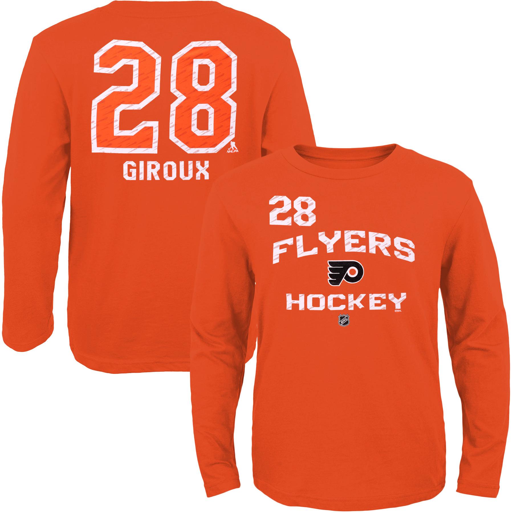 Reebok Dětské tričko Claude Giroux Philadelphia Flyers NHL Name & Number Velikost: Dětské M (9 - 11 let)