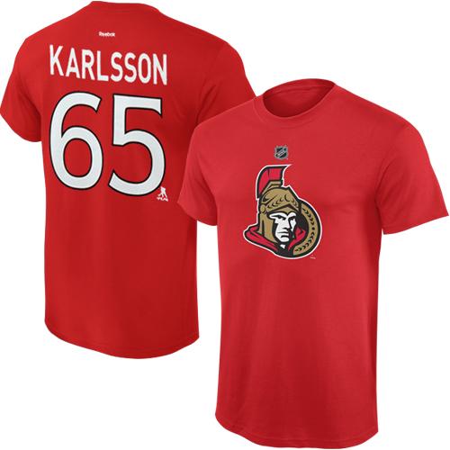 Reebok Dětské tričko Erik Karlsson Ottawa Senators NHL Name & Number Velikost: Dětské M (9 - 11 let)