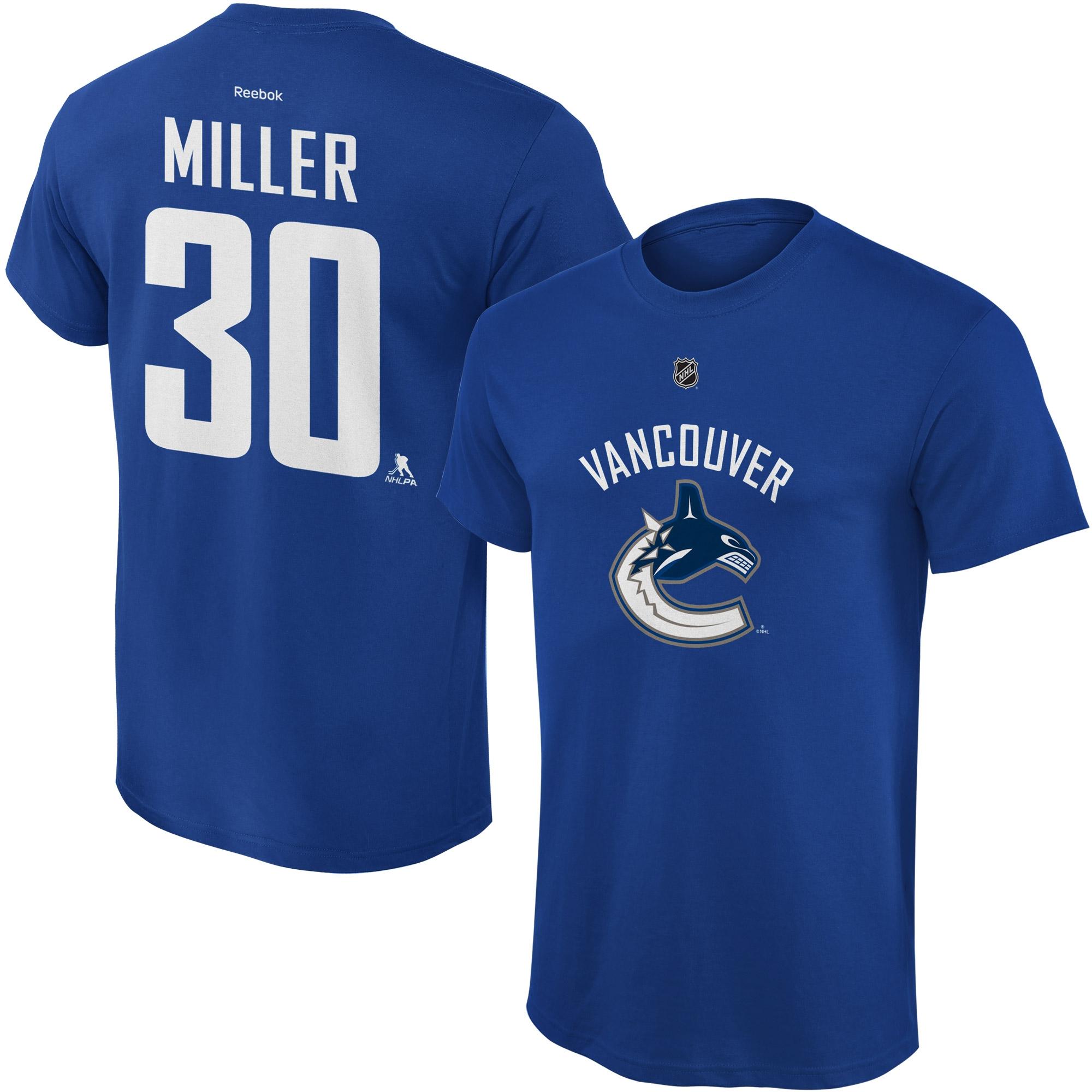 Reebok Dětské tričko Ryan Miller Vancouver Canucks NHL Name & Number Velikost: Dětské M (9 - 11 let)
