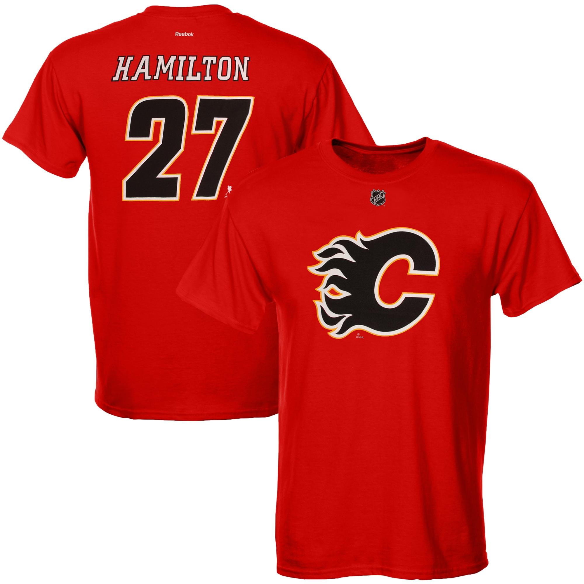 Reebok Dětské tričko Dougie Hamilton Calgary Flames NHL Name & Number Velikost: Dětské M (9 - 11 let)