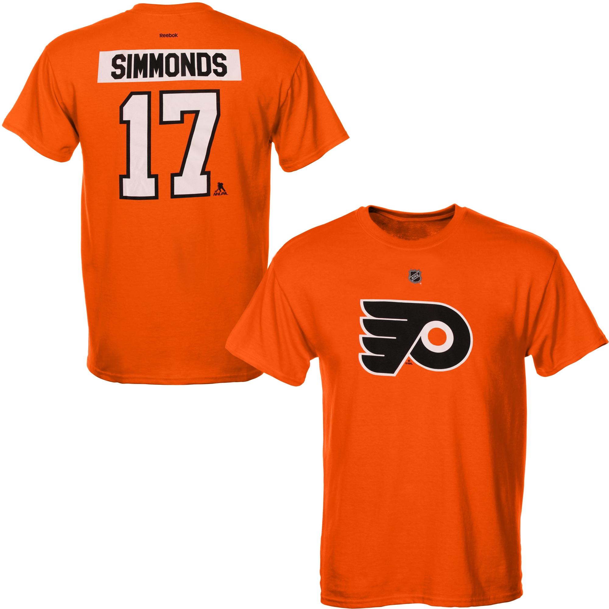 Reebok Dětské tričko Wayne Simmonds Philadelphia Flyers NHL Name & Number Velikost: Dětské M (9 - 11 let)