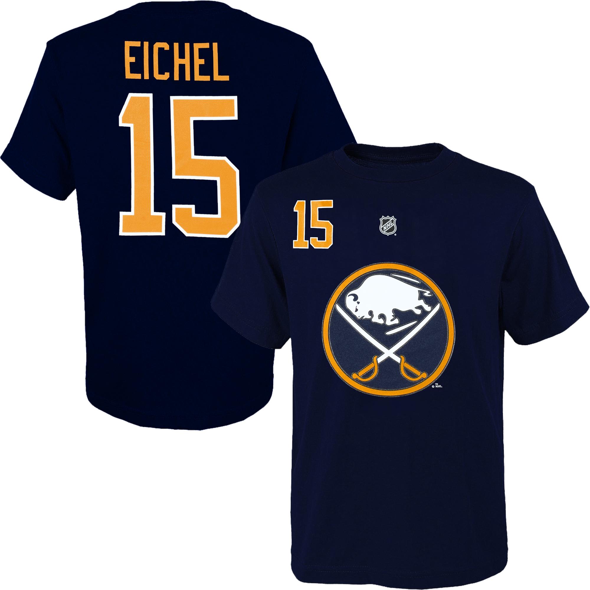 Reebok Dětské tričko Jack Eichel Buffalo Sabres NHL Name & Number Velikost: Dětské M (9 - 11 let)