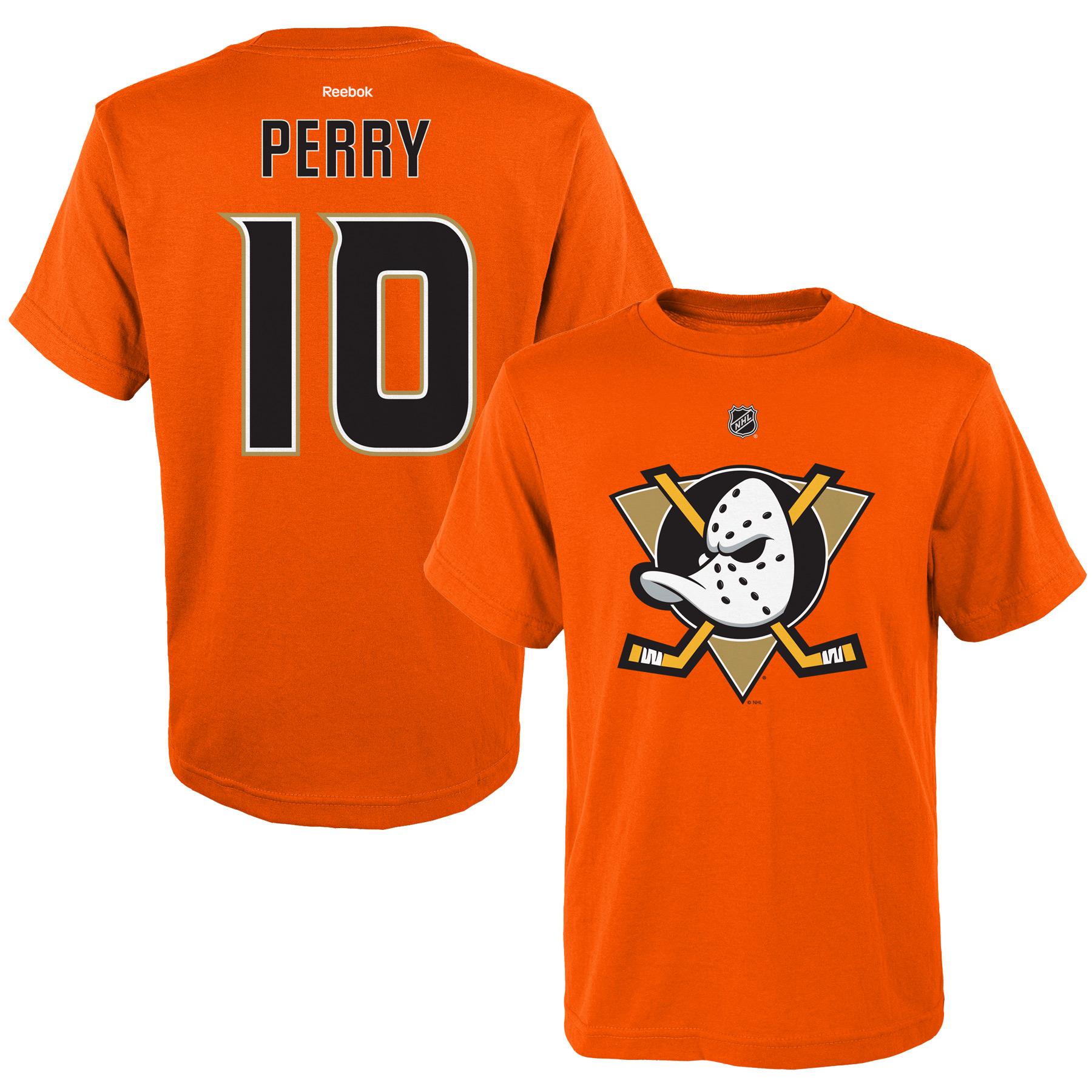 Reebok Dětské tričko Corey Perry Anaheim Ducks NHL Name & Number Velikost: Dětské M (9 - 11 let)
