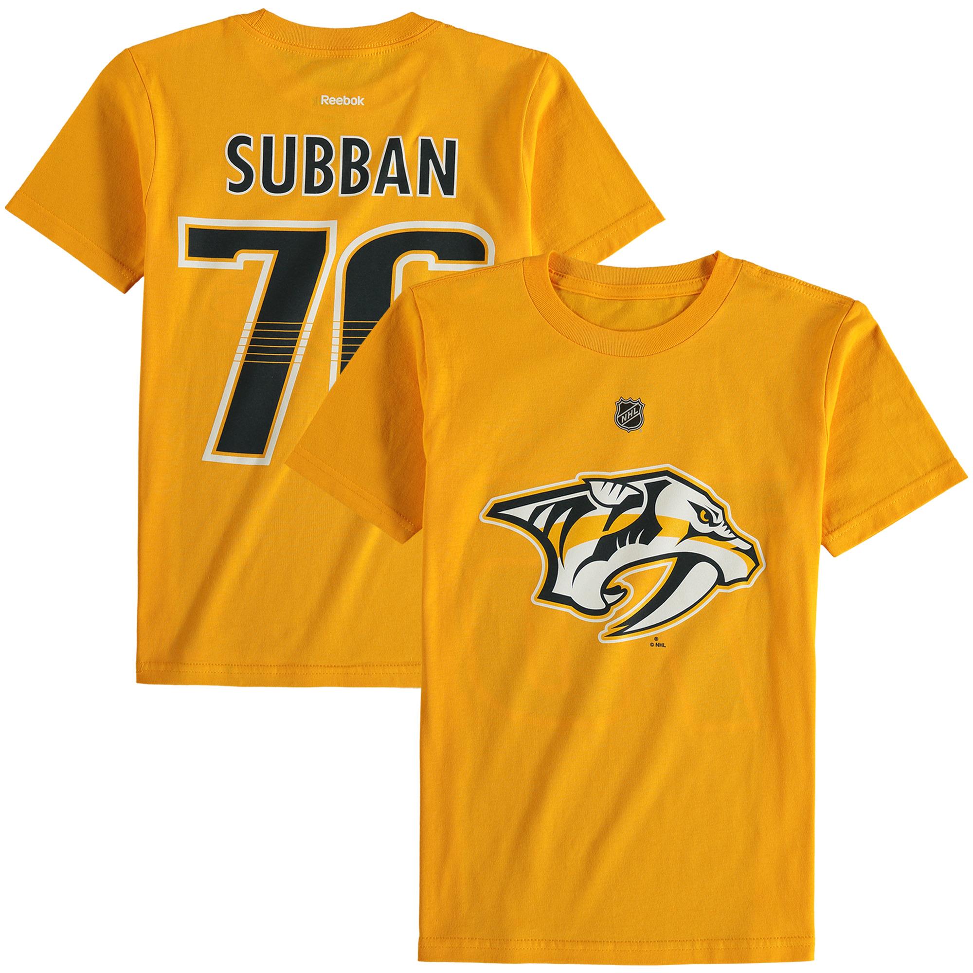 Reebok Dětské tričko PK Subban Nashville Predators NHL Name & Number Velikost: Dětské M (9 - 11 let)