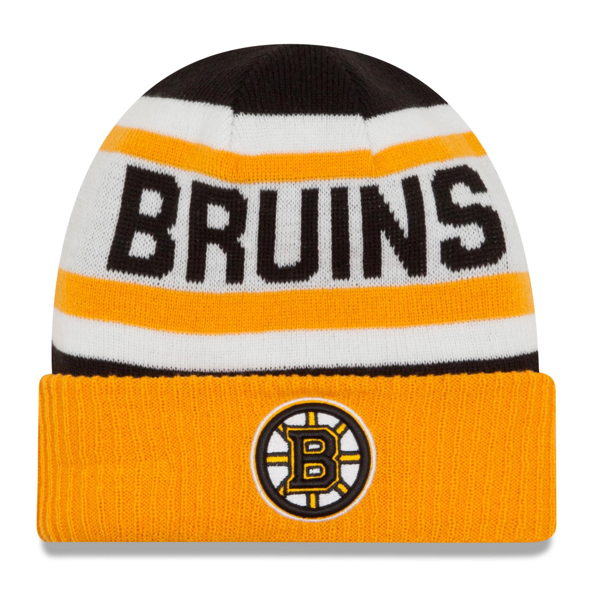 New Era Dětská zimní čepice Boston Bruins NHL Biggest Fan 2.0